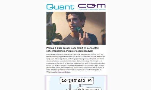 Quant 64 - Philips & CQM: smart en connected scheerapparaten inclusief coachadvies