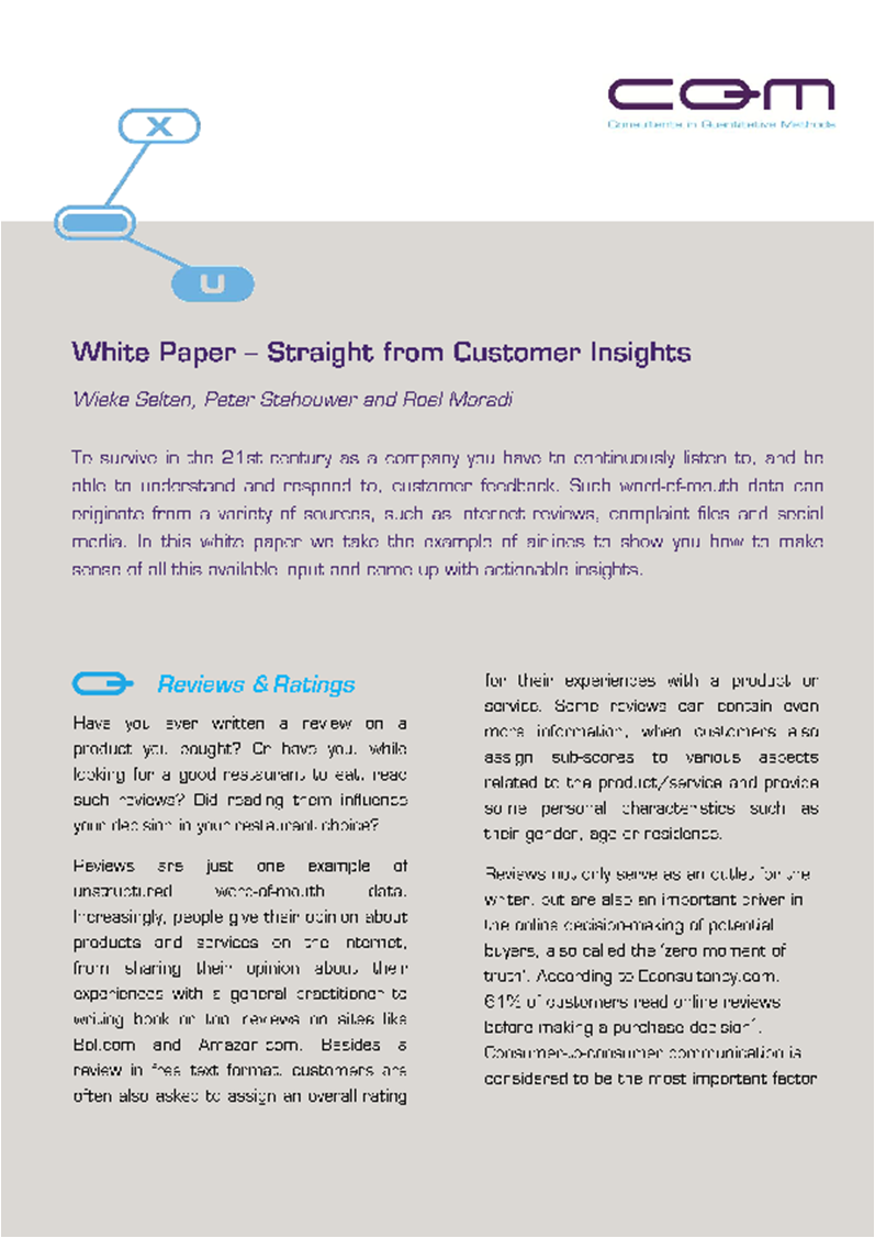 White Paper - Straight from Customer Insights